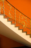 Escadaria na laranja Fotografia de Stock Royalty Free