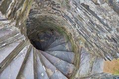 Escadaria na torre velha fotos de stock