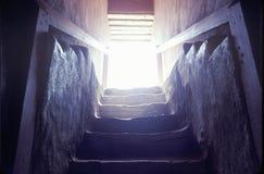 Escadaria nas ruínas indianas astecas, La Plata, nanômetro fotografia de stock
