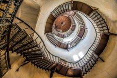 Escadaria no alojamento de caça de Granitz fotos de stock
