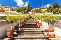 A escadaria no jardim de Ledeburg fotografia de stock