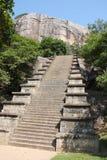 Escadaria no local arqueológico Sri Lanka de Yapahuwa Foto de Stock