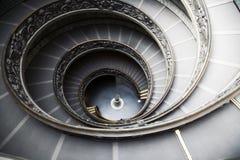 Escadaria no museu de Vatican Imagem de Stock