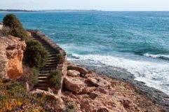 Escadaria pelo oceano. Imagens de Stock Royalty Free