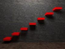 Escadaria à perspectiva dos interiores do sucesso Imagens de Stock