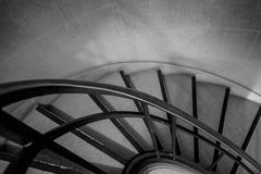 Escadaria preto e branco Foto de Stock Royalty Free