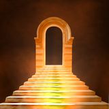 Escadaria que conduz ao céu ou ao inferno Fotografia de Stock Royalty Free