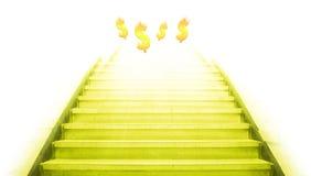 Escadaria que vai acima ao dinheiro Fotos de Stock Royalty Free