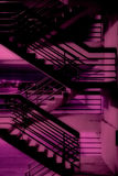 Escadaria roxa Fotografia de Stock Royalty Free