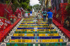 Escadaria Selarón - Рио-де-Жанейро Стоковые Фотографии RF