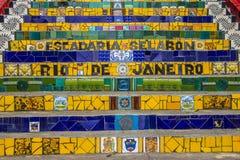 Escadaria Selarón - Rio de Janeiro Image libre de droits