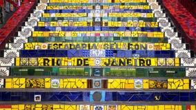 Escadaria Selaron, или шаги Lapa, в Рио-де-Жанейро, Бразилия Стоковая Фотография RF