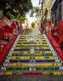 Escadaria Selaron - лестница в районе Lapa в Рио-де-Жанейро, стоковые изображения
