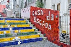 A escadaria Selaron Fotos de Stock