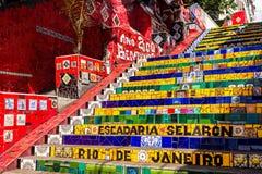 Escadaria Selaron en Rio de Janeiro Foto de archivo libre de regalías