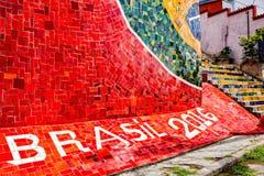 Escadaria Selaron en Rio de Janeiro, el Brasil Imagenes de archivo