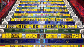 Escadaria Selaron oder Lapa-Schritte, in Rio de Janeiro, Brasilien Lizenzfreie Stockfotografie