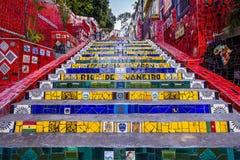 Escadaria Selaron, Rio de Janeiro, Brasilien Royaltyfri Fotografi