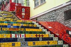 Escadaria Selaron, Rio de Janeiro, Brazil Royalty Free Stock Image
