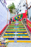 Escadaria Selaron in Rio de Janeiro, Brazil. The stairway is famous work of Chilean artist Jorge Selaron. Royalty Free Stock Images