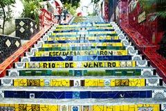 Escadaria Selaron - trap Selaron, Rio Stock Foto