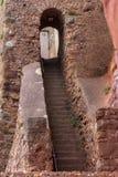 Escadaria velha na escada de Jacob em Sidmouth foto de stock royalty free