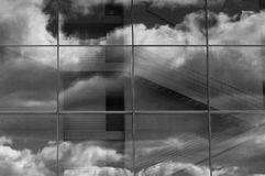 Escadarias nas nuvens fotografia de stock