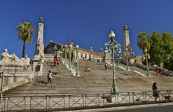 Escadas às artes de Beaux do DES de Musee, Palais Lonchamp, Marselha Fotografia de Stock Royalty Free