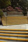 Escadas amarelas Imagem de Stock