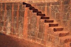 Escadas antigas do tijolo fotos de stock royalty free
