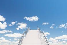 Escadas ao abrigo Imagem de Stock Royalty Free