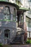 Escadas ao castelo velho fotos de stock