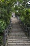 Escadas ao clime acima da montanha fotografia de stock