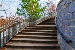 Escadas ao mandril grande no parque de Piedmont, Atlanta, EUA Fotos de Stock Royalty Free
