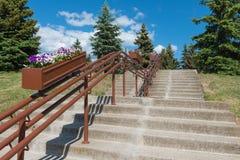 Escadas ao monte Foto de Stock Royalty Free
