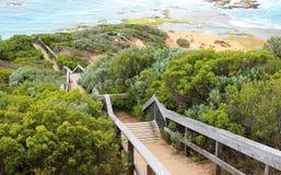 Escadas ao oceano Fotos de Stock Royalty Free