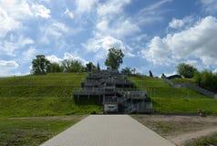 Escadas ao parque montanhoso em Barnaul fotografia de stock royalty free