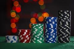 Escadas ao sucesso do pôquer Foto de Stock Royalty Free