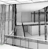 Escadas arquitetónicas do esboço Fotos de Stock Royalty Free