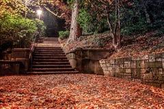Escadas assustadores na escuridão imagem de stock royalty free