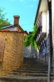 Escadas bonitas pelo lago Ohrid Fotos de Stock Royalty Free