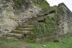 Escadas coloniais do forte Imagem de Stock