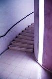 Escadas com luz imagens de stock