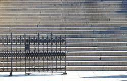 Escadas com uma cerca do metal Foto de Stock Royalty Free