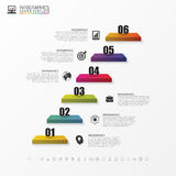 Escadas 3d abstratas Infographic ou molde do espaço temporal Vetor Foto de Stock