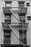 Escadas da construção, New York, EUA Fotografia de Stock Royalty Free