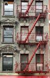 Escadas da construção, New York, EUA Foto de Stock