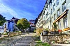 Escadas da corte-Chemin na cidade velha de Fribourg Foto de Stock