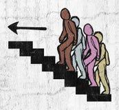 Escadas da entrada ilustração stock