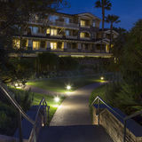 Escadas da noite, Laguna Beach Fotografia de Stock